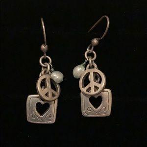 Brighton Peace & Love Earrings